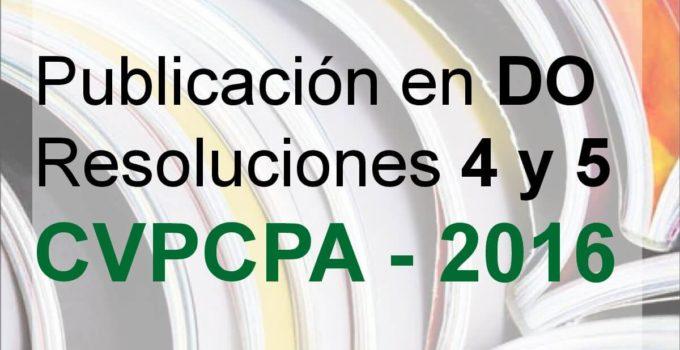 resoluciones CVPCPA año 2016, Consejo de vigilancia de contadores de el salvador