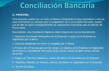 conciliacion bancaria mensual, conciliacion estado bancario, efectivo y equivalentes de efectivo