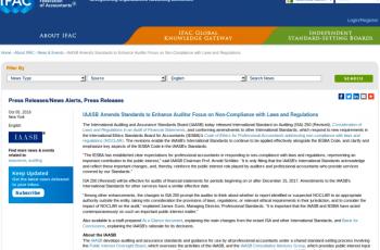 modificacion de NIAS, Normas internacionales de auditoria, nia 250, Normas de auditoria financieras